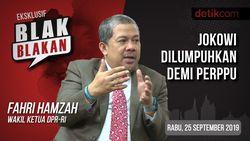 Tonton Blak-blakan Fahri Hamzah: Jokowi Dilumpuhkan demi Perppu