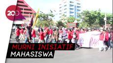 Tolak UU KPK, Mahasiswa Unhas Merahkan Jalanan