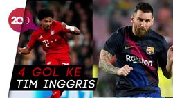 Bikin Quat-trick, Gnabry Samai Capaian Messi