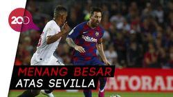 Bungkam Sevilla, Barcelona Pepet Madrid di Puncak Klasemen LaLiga