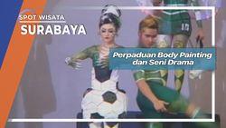 Perpaduan Body Painting dan Seni Drama Surabaya