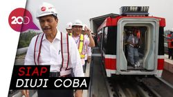 Kereta LRT Cawang-Cibubur Sudah Dipasang, Perkiraan Tarifnya Rp 12 Ribu