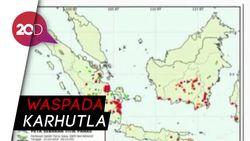 Ribuan Titik Panas Terdeteksi di Sumatera dan Kalimantan