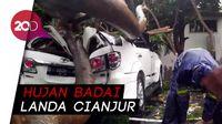 Cianjur Diterjang Hujan Badai, Mobil-Motor Tertimpa Pohon