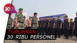 Jelang Pelantikan Presiden, TNI-Polri Gelar Apel Bersama