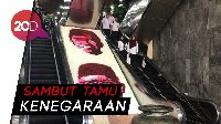 Melihat Susunan Bunga Bergambar Jokowi-Maruf di Gedung DPR