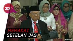 Maruf Amin Berdoa Bersama Sebelum ke MPR/DPR