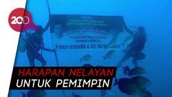Dari Dasar Selat Bali, Nelayan Kirim Ucapan Selamat untuk Jokowi
