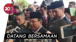 Kompak, Prabowo-Sandi Hadiri Pelantikan Jokowi