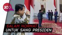 Salam Hormat Menteri Pertahanan Prabowo untuk Jokowi