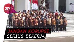 Wejangan Jokowi untuk Menteri Kabinet Indonesia Maju