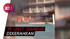14 Orang Terluka Akibat Kebakaran Hebat di SMK Yadika 6 Bekasi