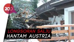 Austria Dicekam Longsor, Rumah Rusak dan Terkubur Salju