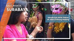 Menikmati Akhir Pekan di Jalan Embong Malang Surabaya