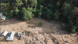 Penampakan dari Udara Jejak Banjir Bandang di Solok Selatan Sumbar
