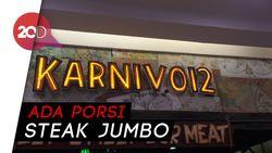 Menyantap Rib Eye Steak Berbalur Bumbu Kopi di Karniv.012