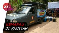 Saat Mobil Patroli Polisi Disulap Jadi Mobil Tangki Air