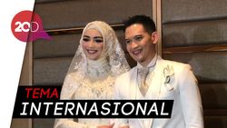 Rezky Aditya dan Citra Kirana Tampil Menawan di Resepsi Pernikahan