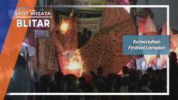 Kemeriahan Festival Lampion, Blitar