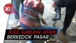 Dramatis! Penggerebekan Judi Sabung Ayam Berkedok Pasar di Probolinggo