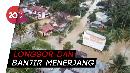 Detik-detik Jalan Amblas dan Rumah Terseret Air di Sumbar