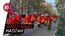 Sambut Natal, Ribuan Santa Claus Touring di Barcelona
