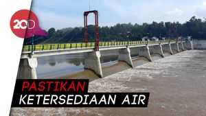 Genjot Sektor Pertanian, Jokowi Resmikan Bendung Kamijoro