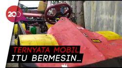 Mobil Formula 1 KW Ditilang Polisi di Garut!