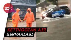 Penampakan Banjir di Jakarta Pagi Ini