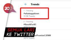 Warganet di Twitter Mengeluh soal #whatsappdown