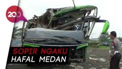 Polisi Olah TKP Bus Maut Subang, Tak Ditemukan Bekas Pengereman