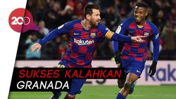 Berkat Messi, Setien Raih Kemenangan Perdana Bareng Barcelona