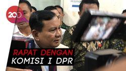 Datangi Komisi I DPR, Menhan Prabowo Bahas Masalah Natuna