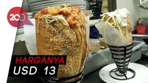 Melahap Sandwich Isi Pasta, Dijamin Kenyang!