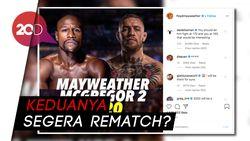 Usai Comeback, McGregor Ditantang Mayweather