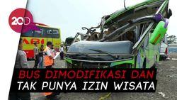 Bus Maut Kecelakaan di Subang Ternyata Sudah Dimodifikasi