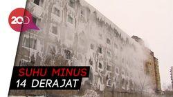 Cuaca Dingin Ekstrem, Apartemen di Rusia Nyaris Beku
