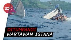 Kapal Phinisi di Labuan Bajo Terbalik