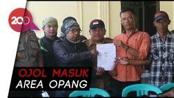 Opang dan Ojol Nyaris Bentrok di Sukabumi, Polisi Meredam