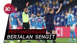 Keras! Dua Kartu Merah Warnai Kemenangan Napoli Atas Lazio