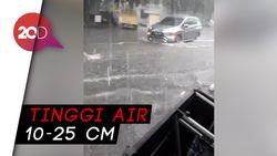 Hujan Sejak Pagi, Ruas Jalan di Jakarta Tergenang Air