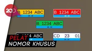 Polri Pamer Desain Pelat Nomor Mobil Listrik