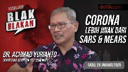 Tonton Blak-Blakan Kemenkes: Corona Lebih Jinak dari SARS & MERS