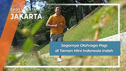 Olahraga Pagi di Taman Mini Indonesia Indah, Jakarta