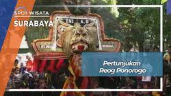 Pertunjukan Reog Ponorogo Di Kampung Kertajaya Surabaya