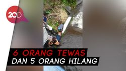 Ratusan Siswa SMPN di Sleman Terseret Arus Banjir Saat Susur Sungai