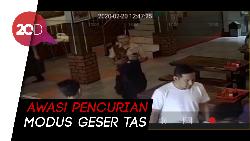 Terekam CCTV Aksi Pencurian Modus Geser Tas di Jaktim