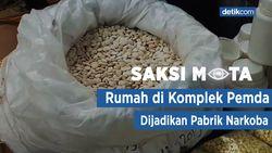 Saksi Mata: Rumah di Bandung Produksi Jutaan Pil Narkoba