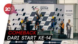 Nagashima Rajai Moto2 Qatar, Adik Valentino Rossi Crash