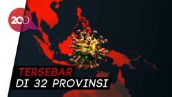Berikut Sebaran 1.986 Kasus Positif COVID-19 di Indonesia